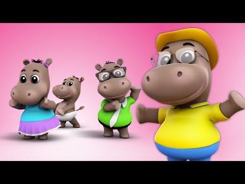 hipopótamo dedo família | pré-escolares rimas  |  Nursery Rhymes | Kids Songs | Hippo Finger Family