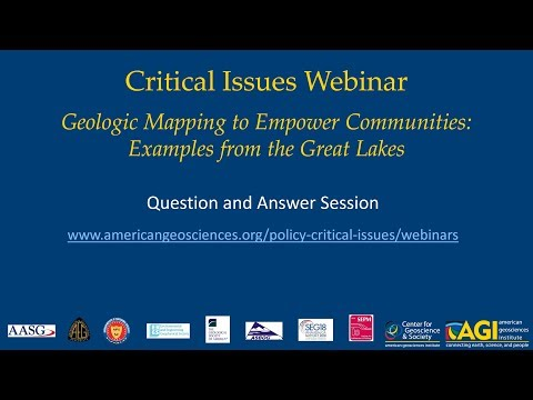 Geologic Mapping to Empower Communities: Question & Answer Session