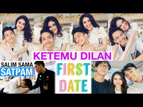 KETEMU DILAN (IQBAAL) - Salim sama Satpam di Mall - Recreating Our First Date - DARE OR DARE