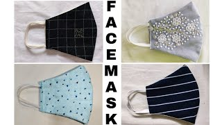 Make Fabric Face Mask At Home DIY Face Mask Easy Face Mask THE CRAFT CHANNEL