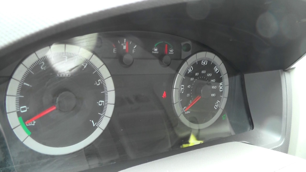2009 Ford Escape Hybrid Dashboard Gauges While Driving