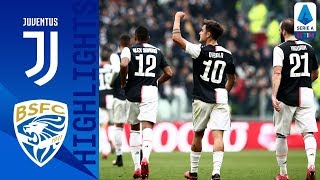 Juventus 2 0 Brescia | Dybala And Cuadrado Score To Beat Brescia As Cr7 Rested | Serie A Tim