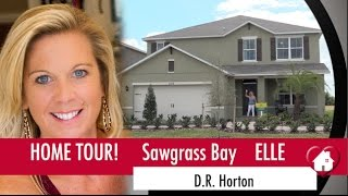 New Homes Clermont Winter Garden Florida Elle Model Home by D.R. Horton at Sawgrass Bay