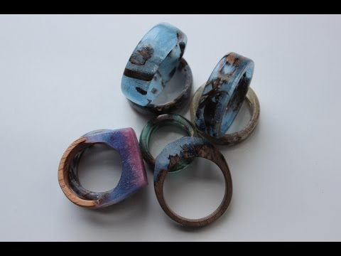 Making epoxy and wood rings!