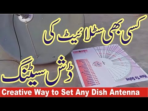 azimuth and elevation for satellite dish pointing in urdu