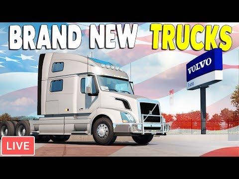 NEW - Volvo Brand Trucks FREE UPDATE - FIRST LOOK | American Truck Simulator Gameplay