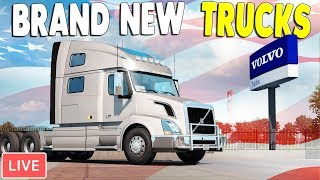 NEW - Volvo Brand Trucks FREE UPDATE - FIRST LOOK | American Truck Simulator Gameplay thumbnail