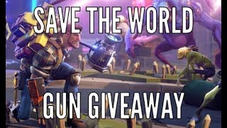 Huge Fortnite Save The World Giveaway Live Join to get a gun