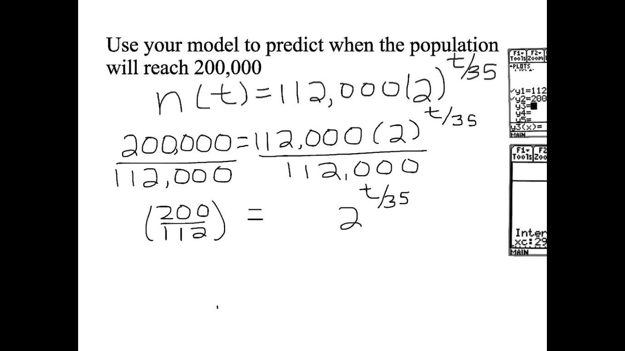how to calculate the doubling time of a population