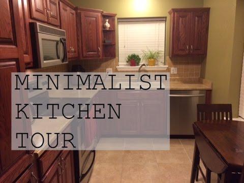Minimalist kitchen tour family minimalism youtube for Minimalist family