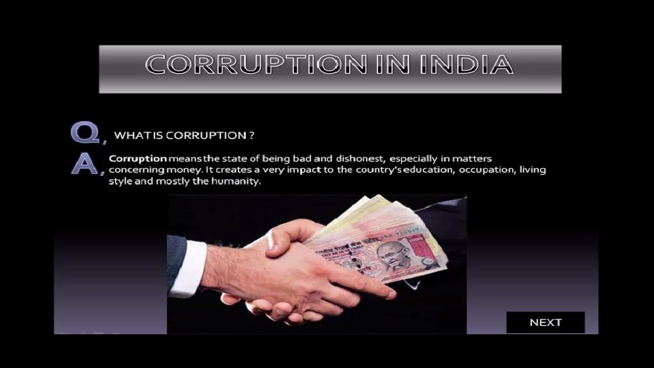 power point presentation on corruption   must watch
