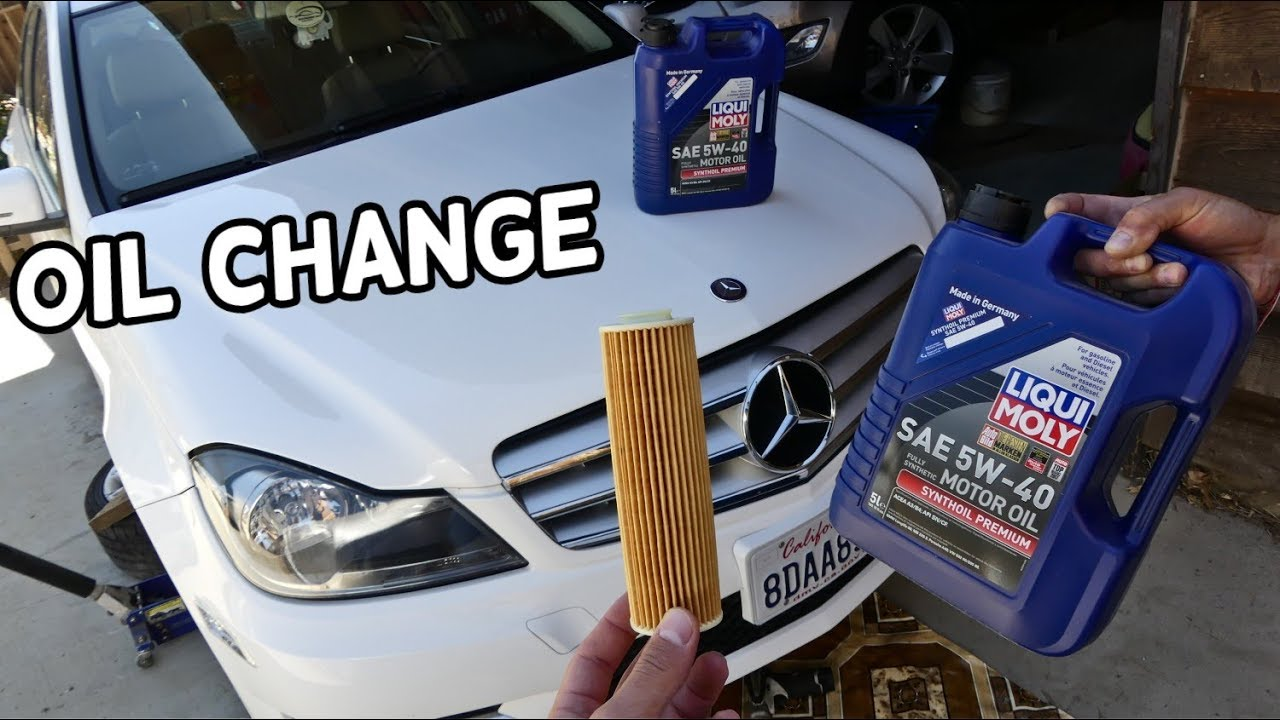 HOW TO CHANGE ENGINE OIL ON MERCEDES W204 C180 C200 C250
