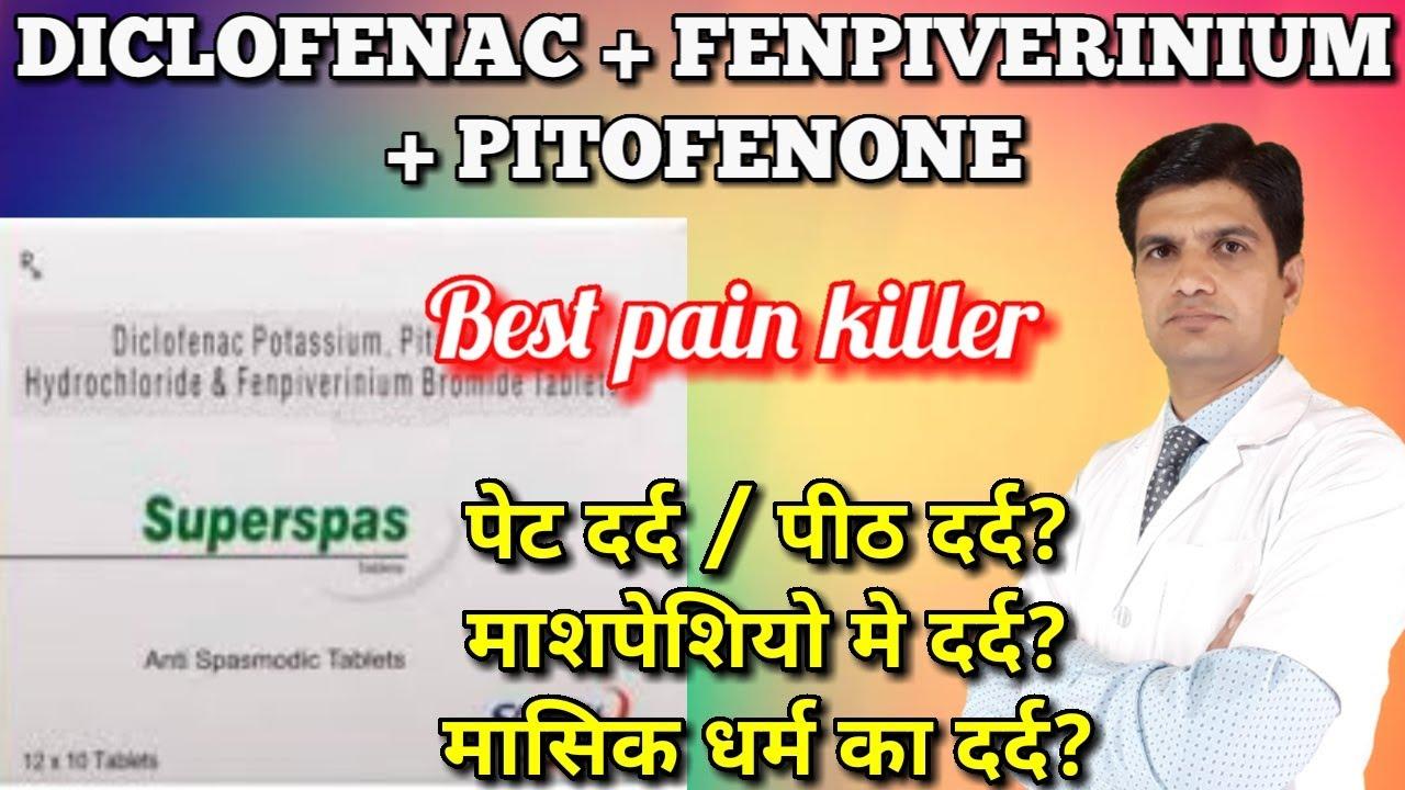 Superspas tablet | Diclofenac Fenpiverinium Pitofenone tablet | uses, side effects