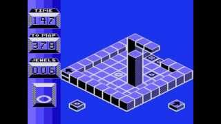 ATARI 800 XL XE SPINDIZZY SPIN DIZZY BY ELECTRIC DREAMS GAMEPLAY