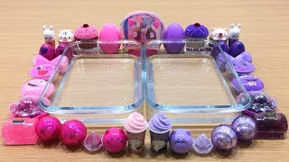 PURPLE vs PINK | Mixing Too Many Things into Clear Slime | Special Series #25 Satisfying Slime Video