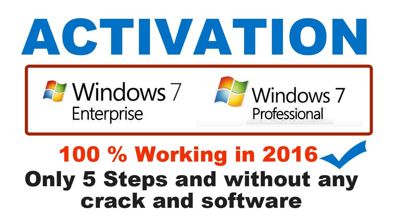 windows 7 enterprise activation patch