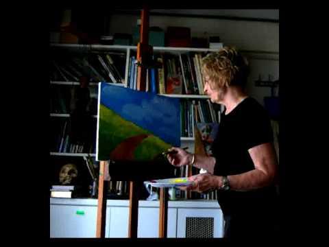 Joni Paints a Tuscan landscape