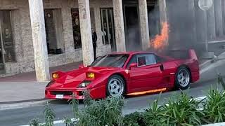 Ferrari Catches Fire