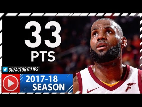 LeBron James Full Highlights vs Rockets (2017.11.09) - 33 Pts, 7 Ast
