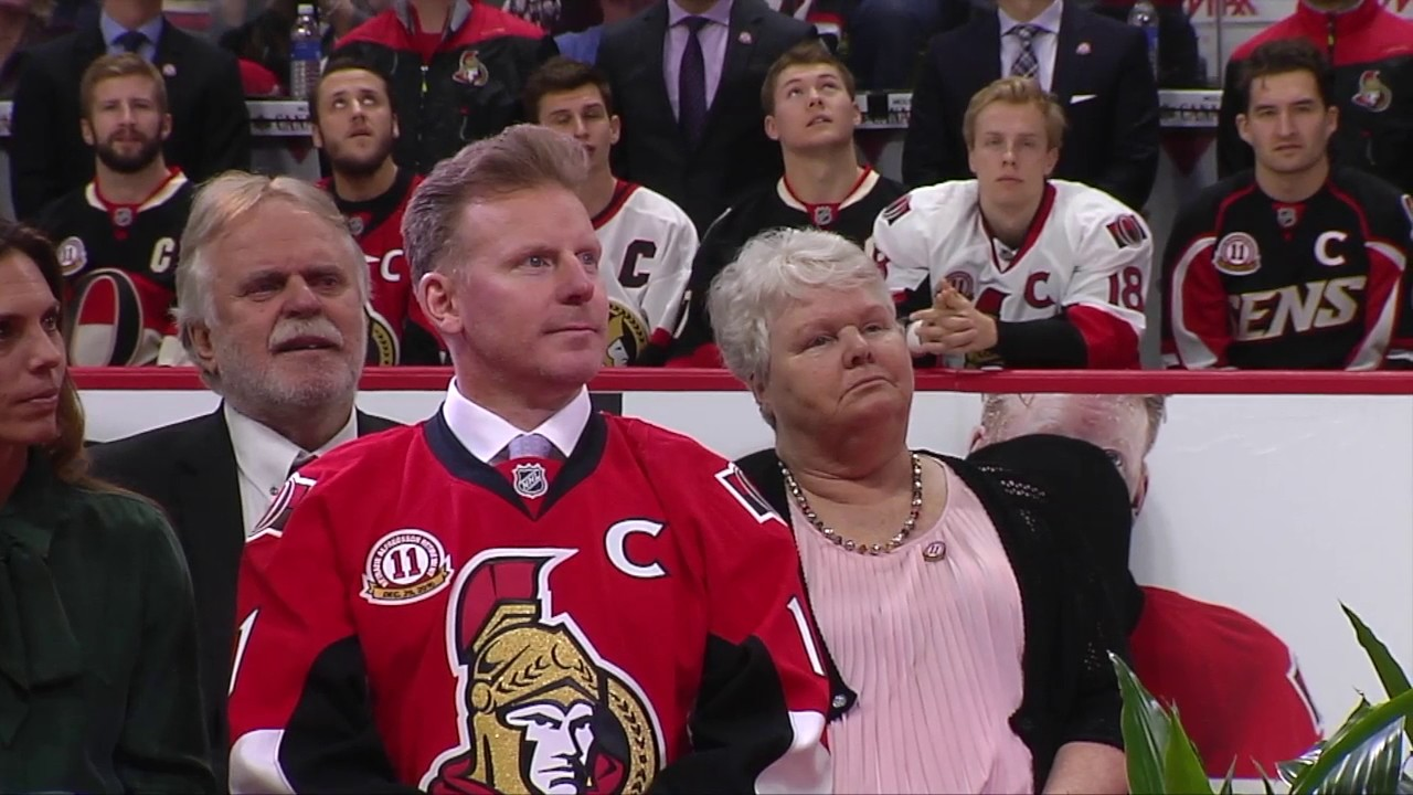 f8fdc0842 Alfie Jersey Retirement - Full Ceremony. Ottawa Senators