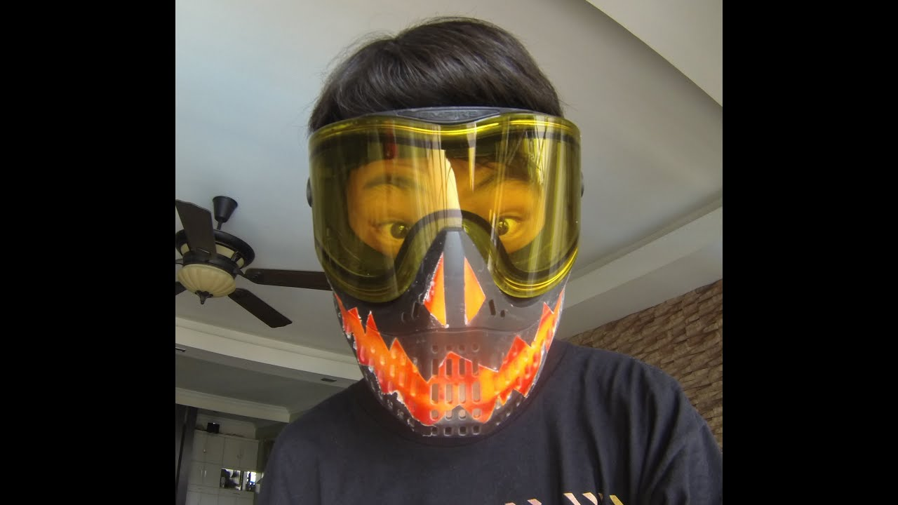 Spray Paint Mask >> Fire Skull Paintball Mask tutorial! (Empire E-Flex) - YouTube