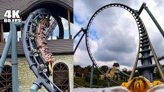 BEST Roller Coaster in Poland! Lech Coaster Legendia! Multi-Angle 4K POV Onride