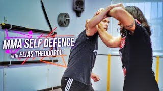 How to Defend from WILD PUNCHES with UFC fighter Elias Theodorou