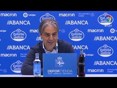 Rueda de prensa de Natxo González tras el RC Deportivo vs UD Las Palmas (0-1)