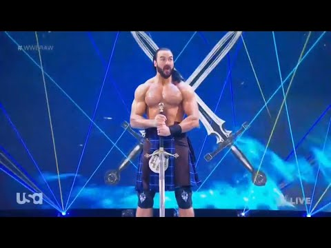 Drew McIntyre Entrance With A Sword - WWE ThunderDome RAW: November 16, 2020  - YouTube