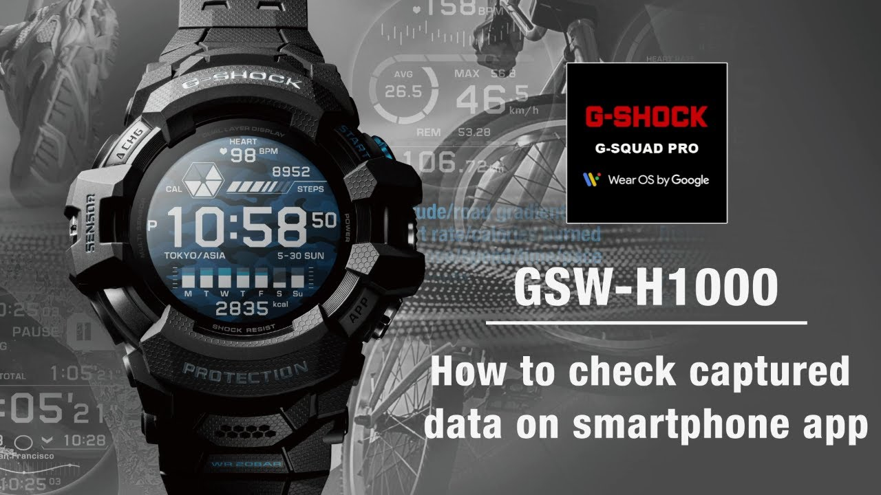 Tips Vol.06: How to check captured data on smartphone app | CASIO G-SHOCK GSW-H1000
