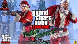 "Gta 5 online| ""FESTIVE SURPRISE DLC"" 2017 SNOW BALL FIGHT ANYONE?? COUNTDOWN! 14K HERE WE GO"