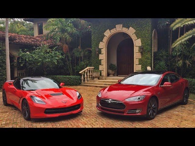 All American Dragstrip Showdown Tesla Model S 85p Vs Corvette Zr1 Electrek