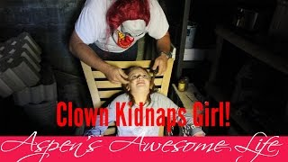 Clown! It Kidnaps Young Girl Day Before Halloween, Creepy Clown Part 4