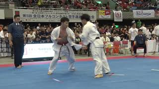 【JFKO】第5回全日本フルコンタクト空手道選手権大会 男子軽重量級 4回戦