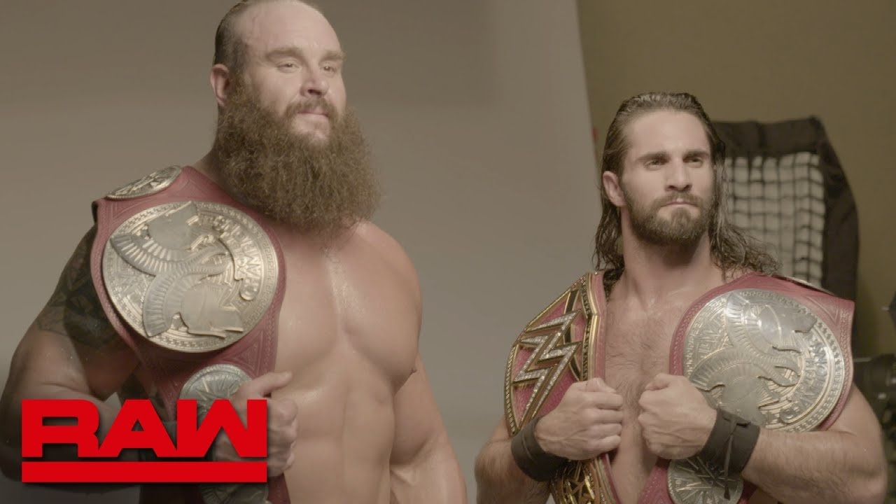 Braun Strowman & Seth Rollins' first photo shoot as Raw Tag Team Champions: Exclusive, Aug.