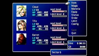 Leveling up Limit Breaks in Final Fantasy 7