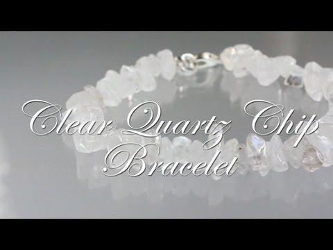 Clear Quartz Chip Bracelet- Reiki Attuned Healing Bracelet