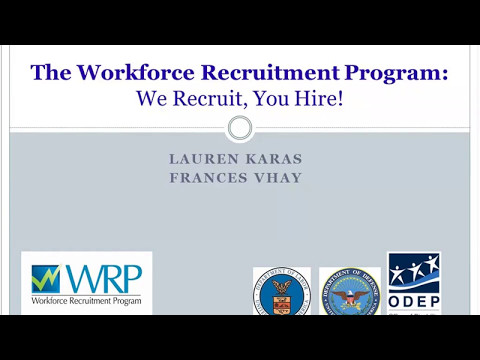 WRP Webinar - We Recruit, You Hire!