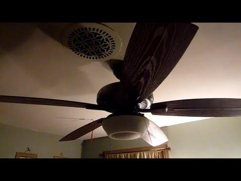 Hampton Bay Gazebo Ii Plus Ceiling Fan Youtube