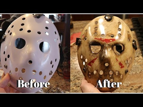 $4 Ebay Jason Mask Makeover- Jason Voorhees Mask DIY Tutorial Friday the 13th