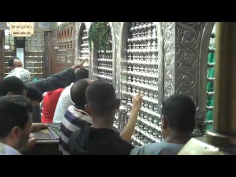 prayer at shrine of Sayyida Zaynab in Cairo