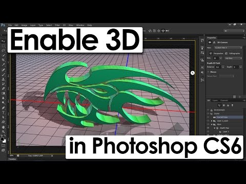 How To Enable 3D Menu In Photoshop CS6 | How To Get 3D Option In Photoshop CS6 Extended