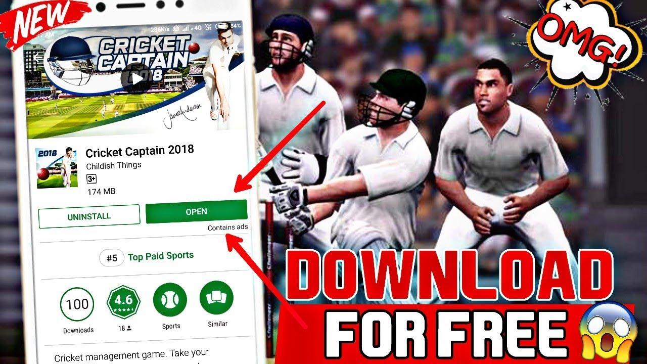 cricket captain 2018 mod apk free download