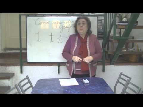 Grafología analisis letra T