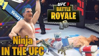 NINJA! Fortnite Legend Tries The UFC! Easy LOOT! EA Sports UFC 3 Online Gameplay