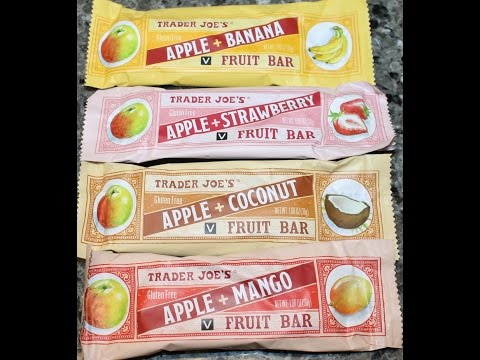 Trader Joe's Fruit Bars Review: Apple + Banana, Strawberry, Coconut & Mango