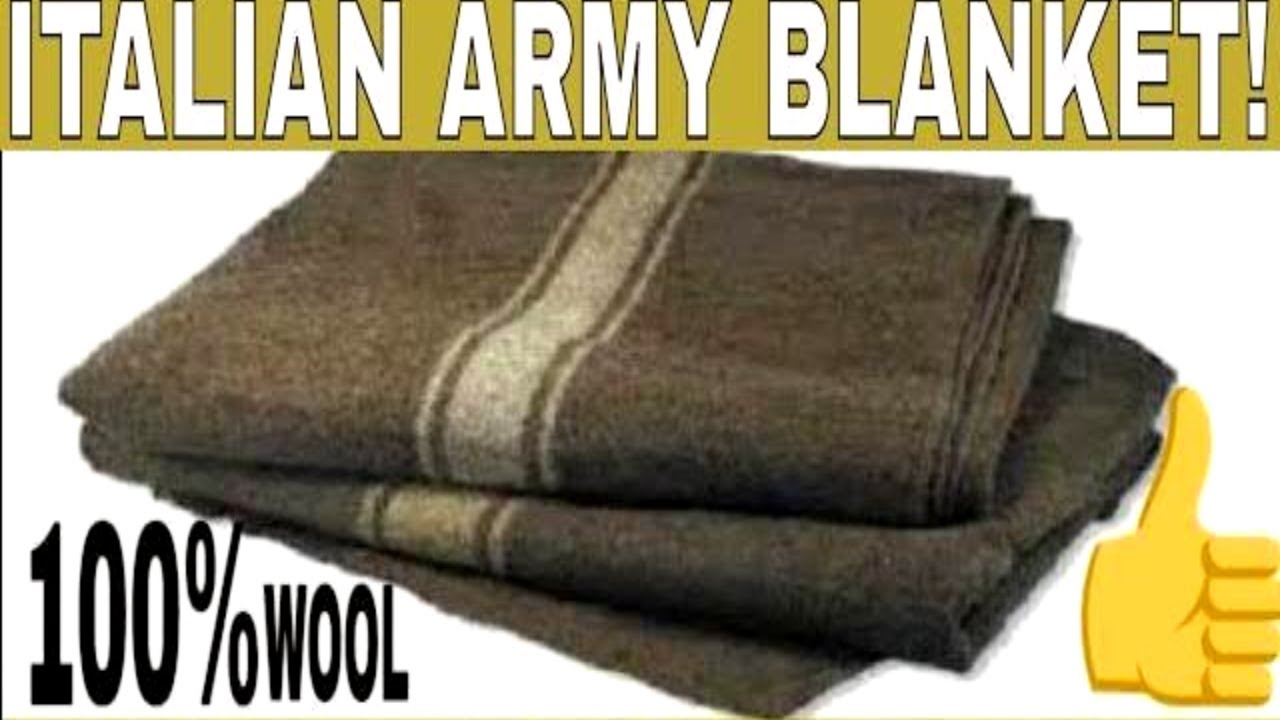 Italian Military 100 Wool Blanket For Bushcraft Or Is It
