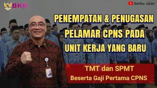 TMT dan SPMT CPNS || Penempatan  Pelamar CPNS 2019