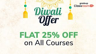 Gradeup offers a flat 25% discount on all the courses| Join us live @3:15PM