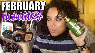 FEBRUARY FAVORITES 2017 | Natural Hair Makeup Skincare | MelissaQ